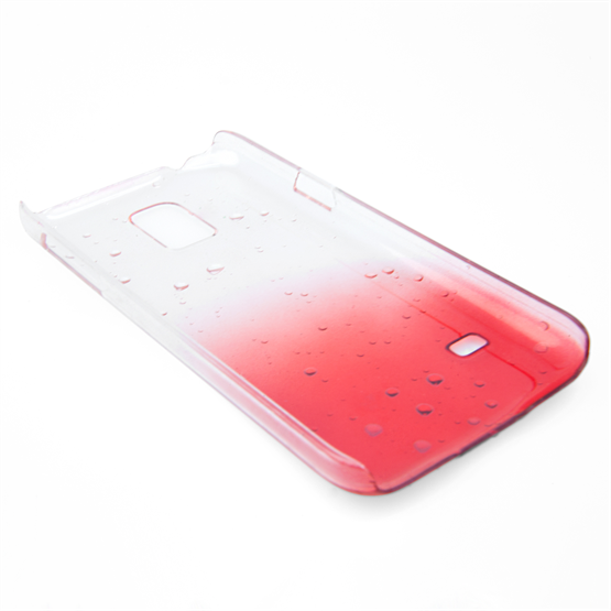 Yousave Accessories Samsung Galaxy S5 Mini Raindrop Red Case