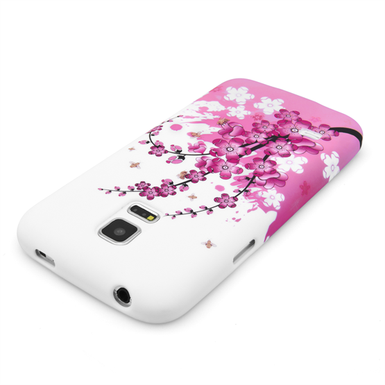 Yousave Accessories Samsung Galaxy S5 Mini Floral Bee Silicone Gel Case