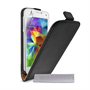 Yousave Accessories Samsung Galaxy S5 Mini Real Leather Flip- Black
