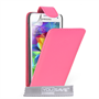 Yousave Accessories Samsung Galaxy S5 Mini Leather-Effect Flip Case - Hot Pink