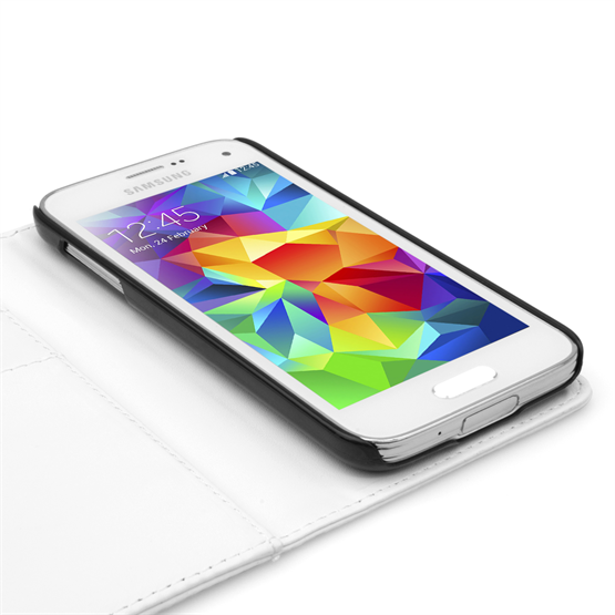 Yousave Accessories Samsung Galaxy S5 Mini Leather-Effect Wallet Case - White