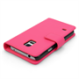 Yousave Accessories Samsung Galaxy S5 Mini Leather-Effect Wallet Case - Hot Pink