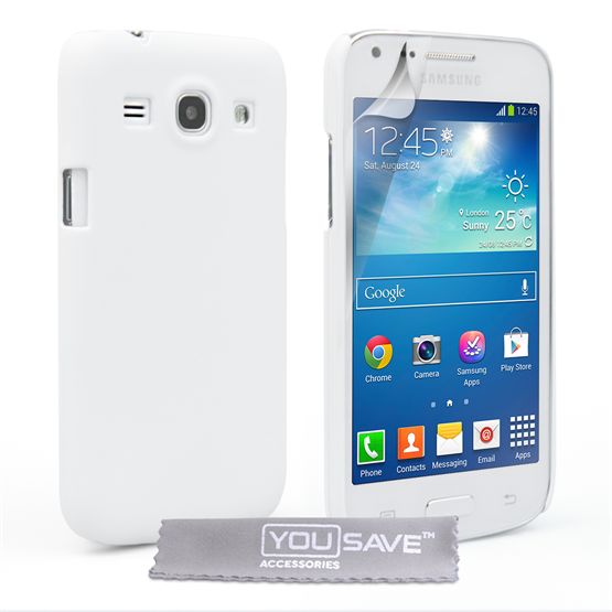 Yousave Accessories Samsung Galaxy Core Plus Hard Hybrid Case - White