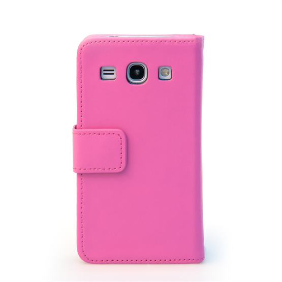 Yousave Accessories Samsung Galaxy Core Plus Leather-Effect Wallet Case - Hot Pink