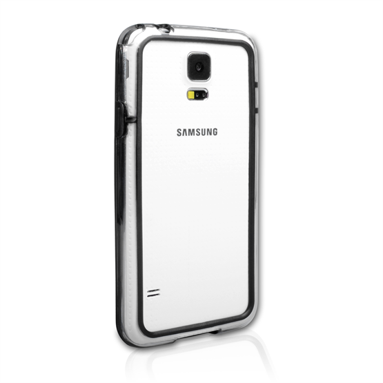 Yousave Accessories Samsung Galaxy S5 Bumper Case - Clear/Black