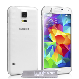 Yousave Accessories Samsung Galaxy S5 0.6Mm Clear Gel Case