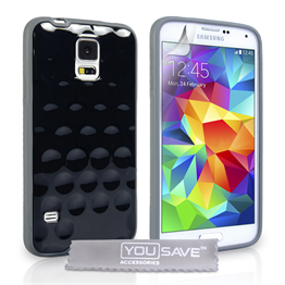 Yousave Accessories Samsung Galaxy S5 Bubble Case - Black