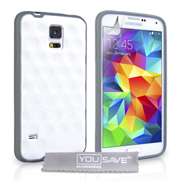Yousave Accessories Samsung Galaxy S5 Bubble Case - White
