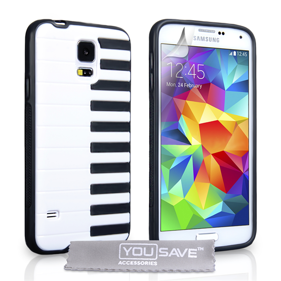 Yousave Accessories Samsung Galaxy S5 Piano Black Case