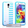 Yousave Accessories Samsung Galaxy S5 Piano Blue Case