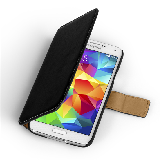 Yousave Accessories Samsung Galaxy S5 Pu Stand Black Case