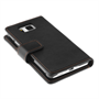 Yousave Accessories Samsung Galaxy Alpha Leather-Effect Wallet Case - Black