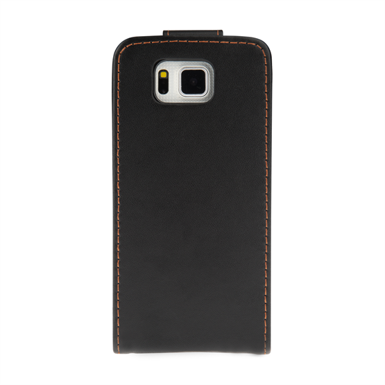 Yousave Accessories Samsung Galaxy Alpha Leather-Effect Flip Case - Black