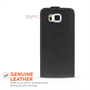 Yousave Accessories Samsung Galaxy Alpha Black Real Leather Flip