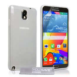 Yousave Accessories Samsung Galaxy Note 4 Silicone Gel Case - Clear