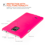 Yousave Accessories Samsung Galaxy Note 4 Hard Hybrid Case - Hot Pink