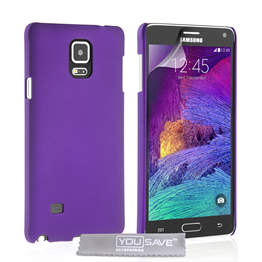 Yousave Accessories Samsung Galaxy Note 4 Hard Hybrid Case - Purple