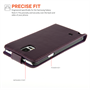 Yousave Accessories Samsung Galaxy Note 4 Leather-Effect Flip Case - Purple