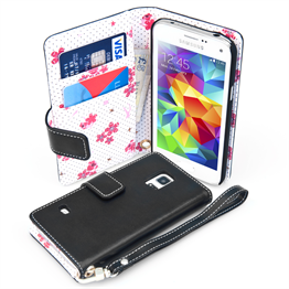 Yousave Accessories Samsung Galaxy S5 Mini Black Bee Design Wallet
