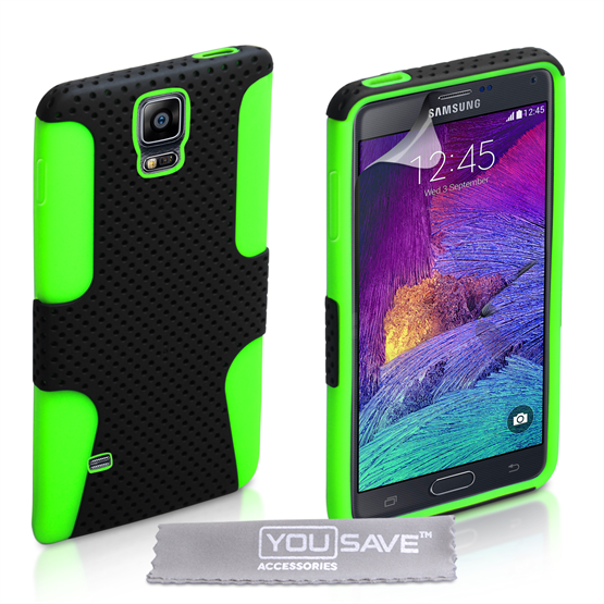 Yousave Accessories Samsung Galaxy Note 4 Green Mesh Combo