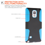 Yousave Accessories Samsung Galaxy Note 4 Blue Mesh Combo