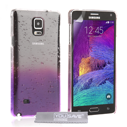 Yousave Accessories Samsung Galaxy Note 4 Purple Raindrop