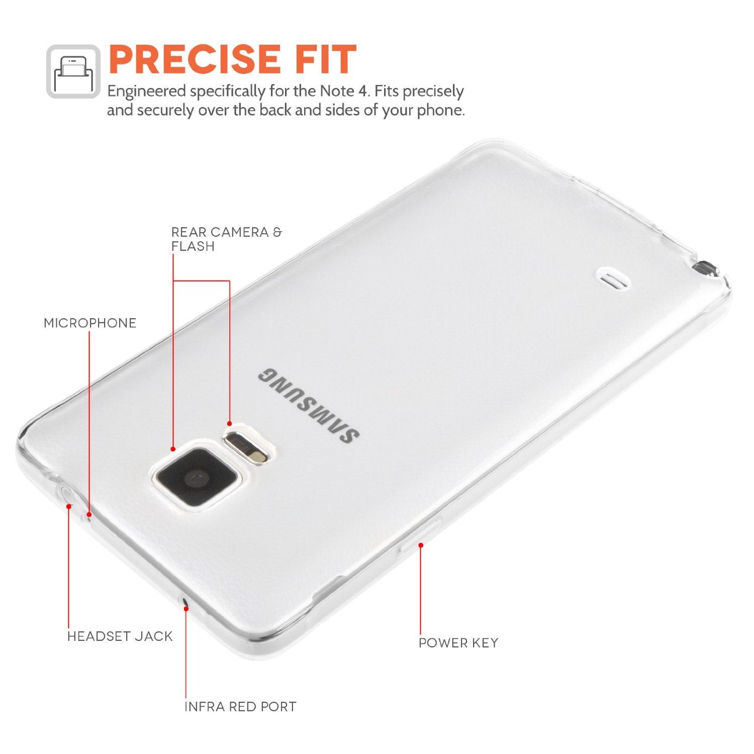 online retailer d263c e81cb YouSave Accessories Samsung Galaxy Note 4 0.6Mm Gel Case - Clear