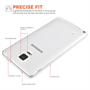 Yousave Accessories Samsung Galaxy Note 4 0.6Mm Clear Gel Case