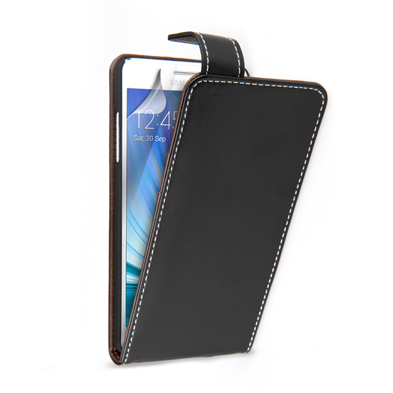 Yousave Accessories Samsung Galaxy A5 Leather-Effect Flip Case With Slots – Black