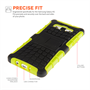 Yousave Accessories Samsung Galaxy A5 Stand Combo Case - Green / Black