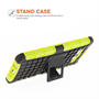 Yousave Accessories Samsung Galaxy A7 Case Green Silicone Combo Stand Cover