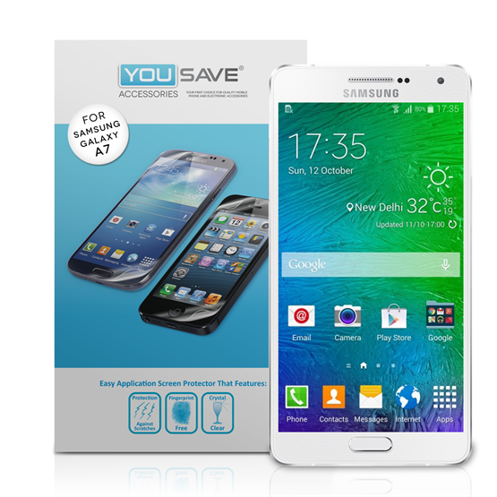 Yousave Accessories Samsung Galaxy A7 Screen Protector Three Pack