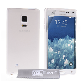 Yousave Accessories Samsung Galaxy Note Edge Silicone Gel Case - Clear