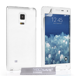 Yousave Accessories Samsung Galaxy Note Edge Crystal Clear - Clear