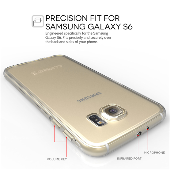 Yousave Accessories Samsung Galaxy S6 0.6Mm Clear Gel Case
