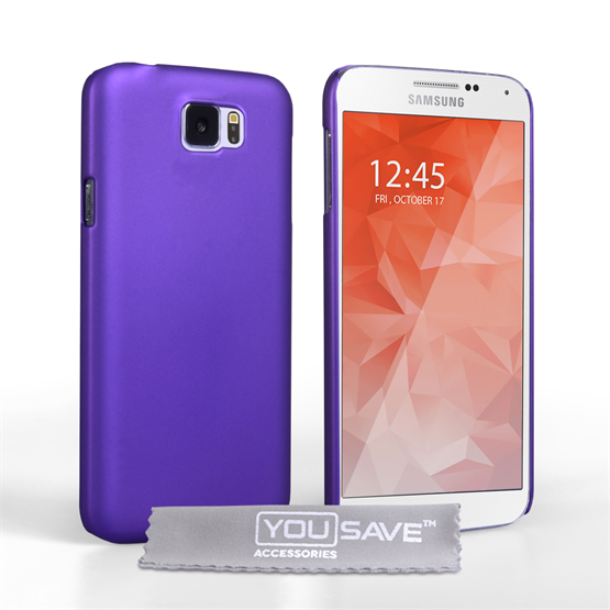 Yousave Accessories Samsung Galaxy S6 Hard Hybrid Case - Purple