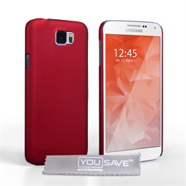 Yousave Accessories Samsung Galaxy S6 Hard Hybrid Case - Red
