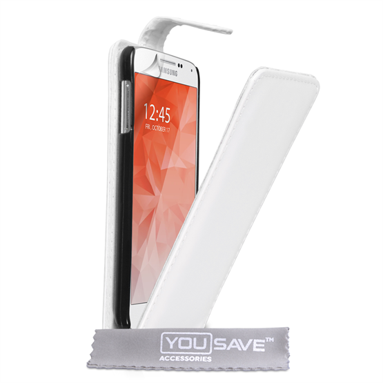Yousave Accessories Samsung Galaxy S6 Leather-Effect Flip Case - White