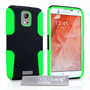 Yousave Accessories Samsung Galaxy S6 Tough Mesh Combo Silicone Case - Green-Black
