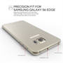 Yousave Accessories Samsung Galaxy S6 Edge 0.6mm Clear Gel Case