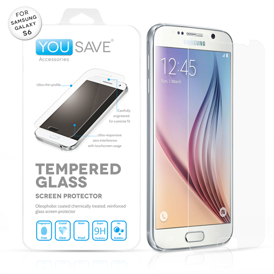 Yousave Accessories Samsung Galaxy S6 Glass Screen Protector