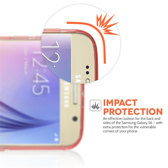 Yousave Accessories Samsung Galaxy S6 Ultra Thin Gel - Pink Case