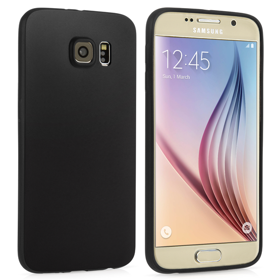 Yousave Accessories Samsung Galaxy S6 New Slim Ultra Thin Gel - Solid Black Case