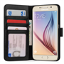 Samsung Galaxy S6 Real Leather ID Wallet  With Stand-Black