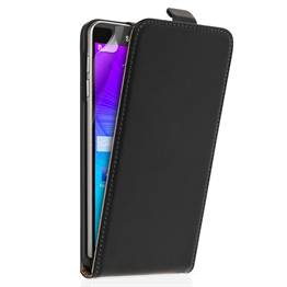Samsung Galaxy Note 5 Real Leather Flip - Black