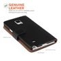 Samsung Galaxy Note 5 Real Leather Wallet - Black
