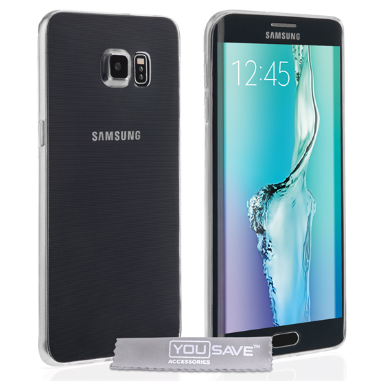 Yousave Accessories Samsung Galaxy S6 Edge Plus 0.6mm Ultra-Thin Clear Gel Case
