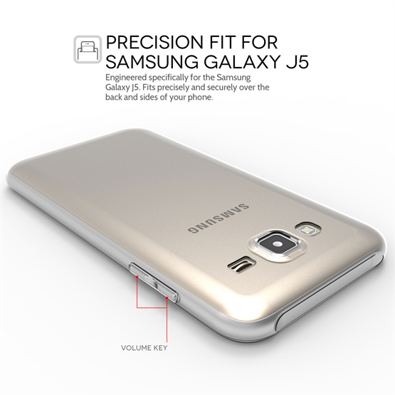 Yousave Accessories Samsung Galaxy J5 0.6mm Ultra-Thin Clear Gel Case