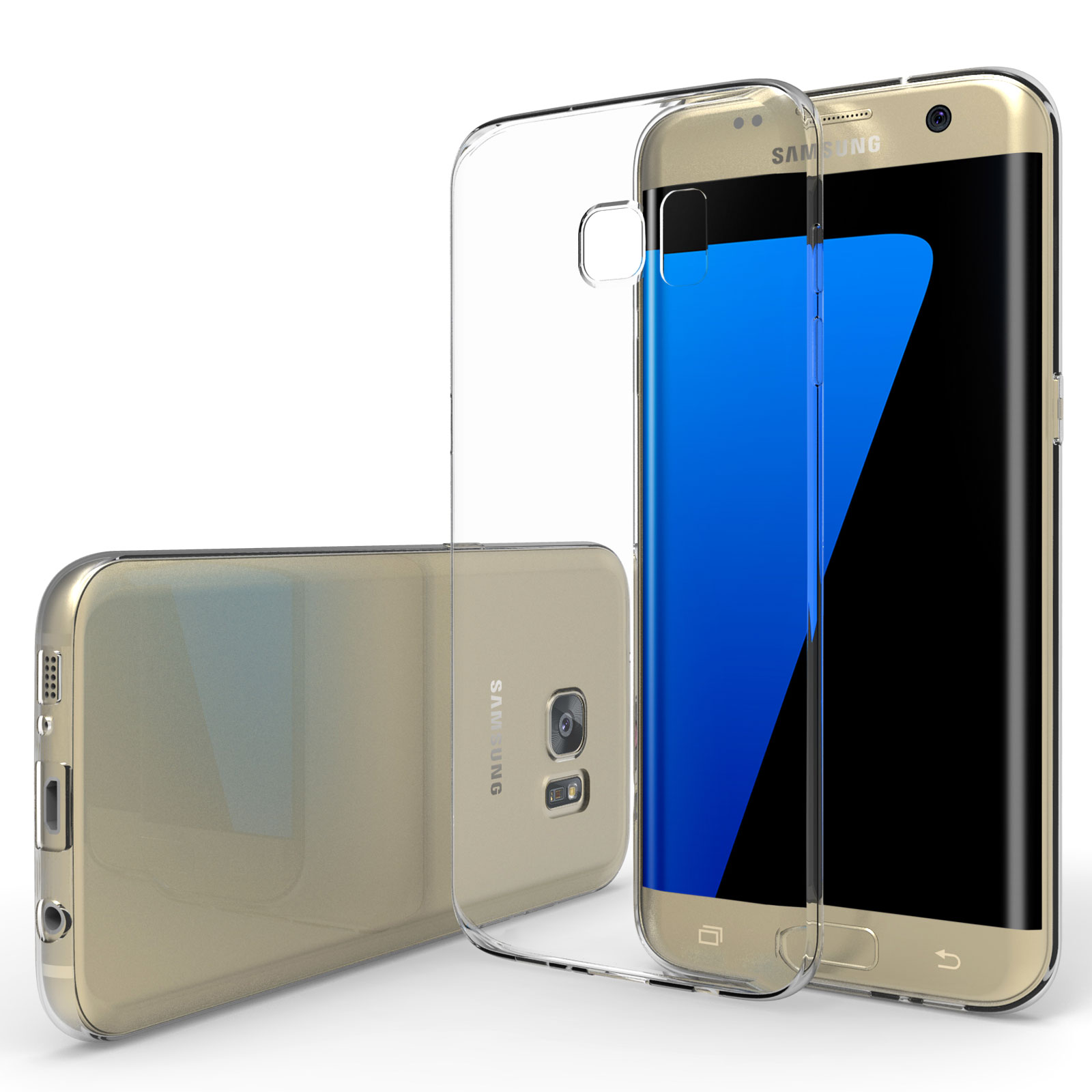 watch ab7d0 a7ea1 YouSave Accessories Samsung Galaxy S7 Edge Ultra Thin Clear Gel Case