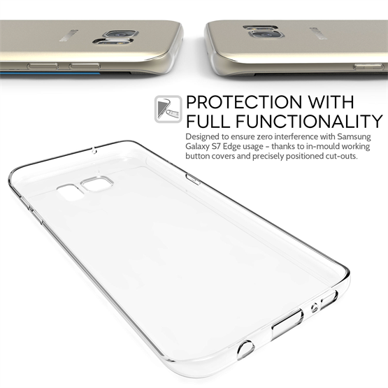Yousave Accessories Samsung Galaxy S7 Edge Ultra Thin Clear Gel Case